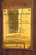 Maison des Vins, the wine office. Avignon. Rhone Valley, France
