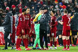 Liverpool manager Jurgen Klopp speaks to Virgil van Dijk of Liverpool and Joe Gomez of Liverpool - Mandatory by-line: Robbie Stephenson/JMP - 11/03/2020 - FOOTBALL - Anfield - Liverpool, England - Liverpool v Atletico Madrid - UEFA Champions League Round of 16, 2nd Leg
