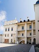 Courtyard view of the rebuilt Vilnius Castle, Vilnius, Lithuania
