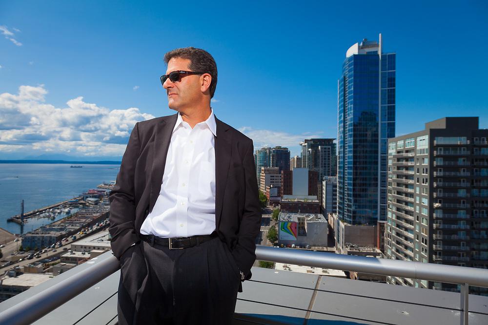 Nick Hanauer, entrepreneur & venture capitalist, photographed in Seattle for Politico.
