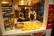 Japanese food stall at the Osaka train station, Japan