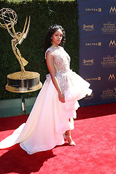 April 30, 2017 - Pasadena, CA, USA - LOS ANGELES - APR 30:  Mishael Morgan at the 44th Daytime Emmy Awards - Arrivals at the Pasadena Civic Auditorium on April 30, 2017 in Pasadena, CA (Credit Image: © Kathy Hutchins/via ZUMA Wire via ZUMA Wire)