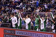 DESCRIZIONE : Milano Coppa Italia Final Eight 2014 Semifinali Enel Brindisi Montepaschi Siena<br /> GIOCATORE : team<br /> CATEGORIA : team esultanza<br /> SQUADRA : Enel Brindisi Montepaschi Siena<br /> EVENTO : Beko Coppa Italia Final Eight 2014<br /> GARA : Enel Brindisi Montepaschi Siena<br /> DATA : 08/02/2014<br /> SPORT : Pallacanestro<br /> AUTORE : Agenzia Ciamillo-Castoria/C.De Massis<br /> Galleria : Lega Basket Final Eight Coppa Italia 2014<br /> Fotonotizia : Milano Coppa Italia Final Eight 2014 Semifinali Enel Brindisi Montepaschi Siena<br /> Predefinita :