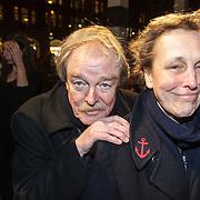 NLD/Amsterdam/20150306 - Boekenbal 2015, Midas Dekker en partner R. Thiadens
