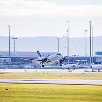 REX (Regional Express) flight ZL2357, opererated here by VH-ZRB, a SAAB 340B, departs Perth Airport (PER) for Esperance (EPR).  Shot at Perth Airport Viewing Platform - © Phil Luyer - High Octane Photos