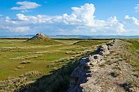 Mongolie, Ovorkhangai, vallee Orkhon, site de Khara Balgas, la ville noire, ancienne capitale Ouigour (9e siecle) // Mongolia, Ovorkhangai province, Okhon valley, Khara Balgas also know Ordu Baliq, the black city, was the capital of Uyghur