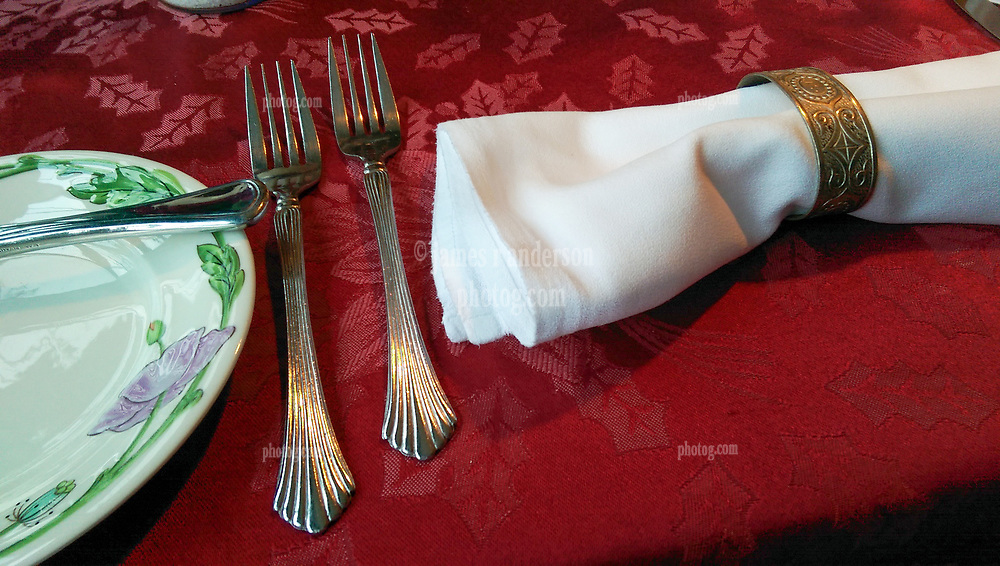 Table Set-up. Dinner at RSVP Restaurant in West Cornwall Connecticut April 2016