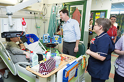 © Licensed to London News Pictures . 12/12/2014 . Sheffield , UK . EMBARGOED UNTIL 00:01 22 December 2014 . Nick Clegg tours Sheffield Children's hospital and meets with nurses , patients and their families , after recording a Christmas edition of Call Clegg from the hospital . Photo credit : Joel Goodman/LNP