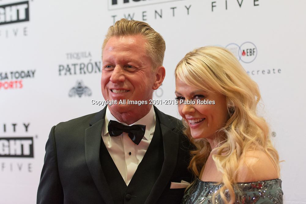 Kevin Rowe and Shari Rowe attend the Celebrity Fight Night event on March 23, 2019 in Scottsdale, AZ.