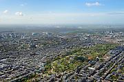 Nederland, Noord-Holland, Amsterdam, 09-04-2014; Amsterdam-Zuid,  Vondelpark met Vondelkerk, gezien naar Nieuwe Meer.<br /> Vondel park, Amsterdam South.<br /> luchtfoto (toeslag op standard tarieven);<br /> aerial photo (additional fee required);<br /> copyright foto/photo Siebe Swart