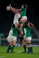 England's Zoe Aldcroft and Ireland's Nichola Fryday compete for a line out<br /> <br /> Photographer Bob Bradford/CameraSport<br /> <br /> 2018 Women's Autumn Internationals - England Women v Ireland Women - Saturday 24th November 2018 - Twickenham - London<br /> <br /> World Copyright © 2018 CameraSport. All rights reserved. 43 Linden Ave. Countesthorpe. Leicester. England. LE8 5PG - Tel: +44 (0) 116 277 4147 - admin@camerasport.com - www.camerasport.com