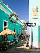 People relax in Viejo San Juan/Old San Juan.