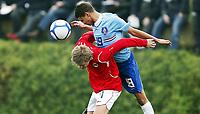 Fotball , 4. februar 2010 , Privatkamp U17 , Norge - Nederland 0-2<br /> <br /> <br /> Fredrik Midtsjø , Rosenborg  og Norge<br /> Adam Maher , AZ og Nederland