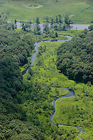 Aerial of Selden Creek, small inlet (looking west) along Selden Island along the Connecticut River, Lyme, CT