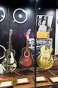 Exhibit at Sun Studio birthplace of rock and roll stars Elvis Presley, Johnny Cash, Jerry Lee Lewis, Carl Perkins, Memphis USA