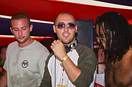 PJ Ellis and Spencer Smith from Big Brother in the Bacardi Breezer Tent, V2002, Hylands Park, Chelmsford, Essex, Britain - 18 August 2002