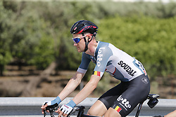 May 9, 2018 - Santa Ninfa, ITALY - Belgian Tim Wellens of Lotto Soudal pictured in action during stage 5 of the 101st edition of the Giro D'Italia cycling tour, 153km from Agrigento to Santa Ninfa (Valle del Belice), Italy, Wednesday 09 May 2018...BELGA PHOTO YUZURU SUNADA FRANCE OUT (Credit Image: © Yuzuru Sunada/Belga via ZUMA Press)