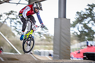 #87 (WHYTE Kye) GBR at the 2018 UCI BMX Superscross World Cup in Saint-Quentin-En-Yvelines, France.