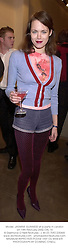 Model  JASMINE GUINNESS at a party in London on 14th February 2002.<br />OXL 16