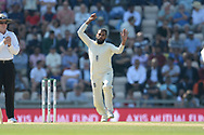 Adil Rashid of England bowling during the fourth day of the 4th SpecSavers International Test Match 2018 match between England and India at the Ageas Bowl, Southampton, United Kingdom on 2 September 2018.