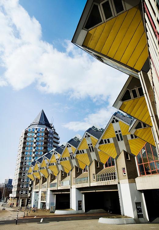 Nederland, Rotterdam, 13 april 2010.Kubuswoningen van Piet Blom...Foto (c)  Michiel Wijnbergh
