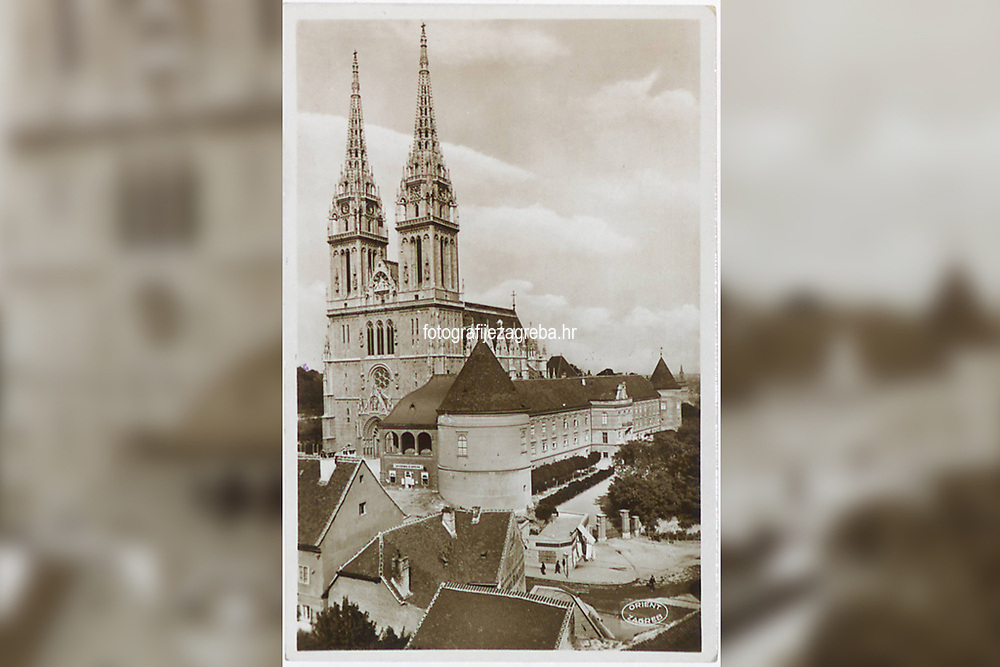 Zagreb : Katedrala sa Nadbiskupskim dvorom. <br /> <br /> ImpresumZagreb : Naklada: Orient, [između 1930. i 1940.].<br /> Materijalni opis1 razglednica : tisak ; 13,9 x 9 cm.<br /> NakladnikNaklada Orient<br /> Mjesto izdavanjaZagreb<br /> Vrstavizualna građa • razglednice<br /> ZbirkaGrafička zbirka NSK • Zbirka razglednica<br /> Formatimage/jpeg<br /> PredmetZagreb –– Kaptol<br /> SignaturaRZG-KAP-75<br /> Obuhvat(vremenski)20. stoljeće<br /> NapomenaRazglednica nije putovala.<br /> PravaJavno dobro<br /> Identifikatori000955764<br /> NBN.HRNBN: urn:nbn:hr:238:156530 <br /> <br /> Izvor: Digitalne zbirke Nacionalne i sveučilišne knjižnice u Zagrebu