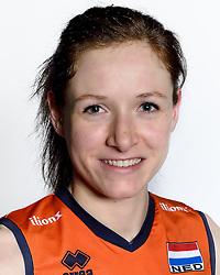 28-12-2015 NED: Nederlands Volleybalteam vrouwen, Arnhem<br /> Nederlands volleybalteam vrouwen op de foto met de nieuwe sponsorshirt ilionx Lonneke Sloetjes #10