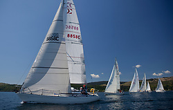 Sailing - SCOTLAND  - 25th-28th May 2018<br /> <br /> The Scottish Series 2018, organised by the  Clyde Cruising Club, <br /> <br /> First days racing on Loch Fyne.<br /> <br /> 8858, Close Encounters, Griogair Whyte, RNCYC, Sigma 33 OOD<br /> <br /> Credit : Marc Turner<br /> <br /> <br /> Event is supported by Helly Hansen, Luddon, Silvers Marine, Tunnocks, Hempel and Argyll & Bute Council along with Bowmore, The Botanist and The Botanist
