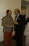 Christophe Gollut and Ed Victor,  CPhoto magazine launch hosted by Elena Foster. Serpentine Gallery. January 14 2006. London. ONE TIME USE ONLY - DO NOT ARCHIVE  © Copyright Photograph by Dafydd Jones 66 Stockwell Park Rd. London SW9 0DA Tel 020 7733 0108 www.dafjones.com