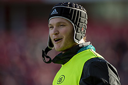 December 9, 2018 - Limerick, Ireland - Tyler Bleyendaal of Munster during warm-up during the Heineken Champions Cup Round 3 match between Munster Rugby and Castres Qlympique at Thomond Park Stadium in Limerick, Ireland on December 9, 2018  (Credit Image: © Andrew Surma/NurPhoto via ZUMA Press)