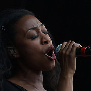 London, Trafalgar Square London,UK,19th June 2016, The Bodyguard Beverley Knight on stage at West End Live in Trafalgar Square, London. Photo by See Li