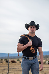 hot cowboy on a cattle ranch