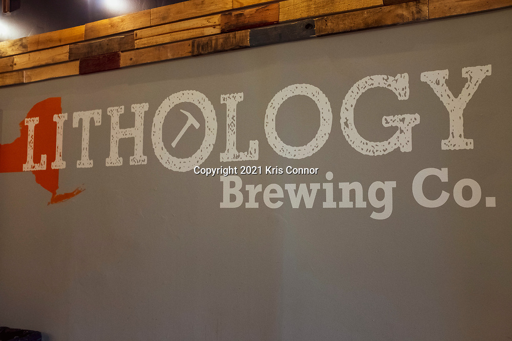 The A-Frame Pilsner by Lithology Brewing in Farmingdale, NY on March 26, 2021. Photo by Kris Connor