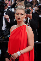 Model Kate Moss at the gala screening for the film Loving at the 69th Cannes Film Festival, Monday 16th May 2016, Cannes, France. Photography: Doreen Kennedy