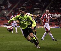 Photo: Mark Stephenson/Sportsbeat Images.<br /> Stoke City v Sheffield United. Coca Cola Championship. 10/11/2007.Shefffield's Keith Gillespie turns on the ball