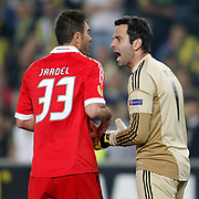 Benfica's goalkeeper Artur and Jardel during their UEFA Europa League Semi Final first match Fenerbahce between Benfica at Sukru Saracaoglu stadium in Istanbul Turkey on Thursday 25 April 2013. Photo by Aykut AKICI/TURKPIX