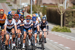 An elite group forms on the front as the riders make their way to Banenberg - Women's Gent Wevelgem 2016, a 115km UCI Women's WorldTour road race from Ieper to Wevelgem, on March 27th, 2016 in Flanders, Belgium.