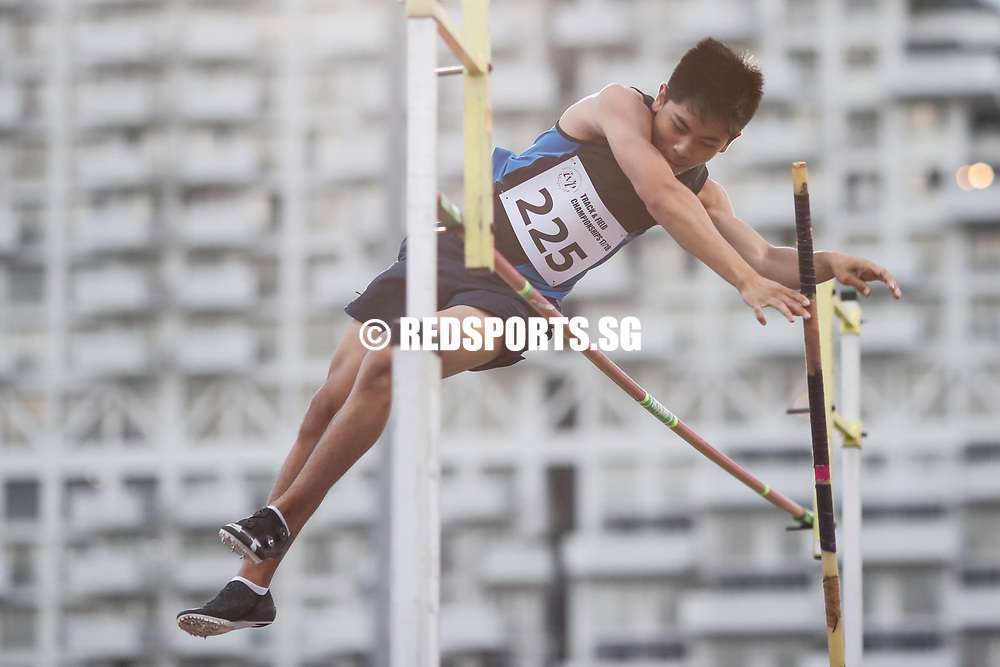 Irvin Goh of Ngee Ann Polytechnic in action during the men's pole vault event. (Photo © Lim Yong Teck/Red Sports) The 2018 Institute-Varsity-Polytechnic Track and Field Championships were held over three days in January.<br /> <br /> Story: https://www.redsports.sg/2018/01/15/ivp-day-one/<br /> <br /> Story: https://www.redsports.sg/2018/01/18/ivp-day-two/<br /> <br /> Story: https://www.redsports.sg/2018/01/23/ivp-day-three/