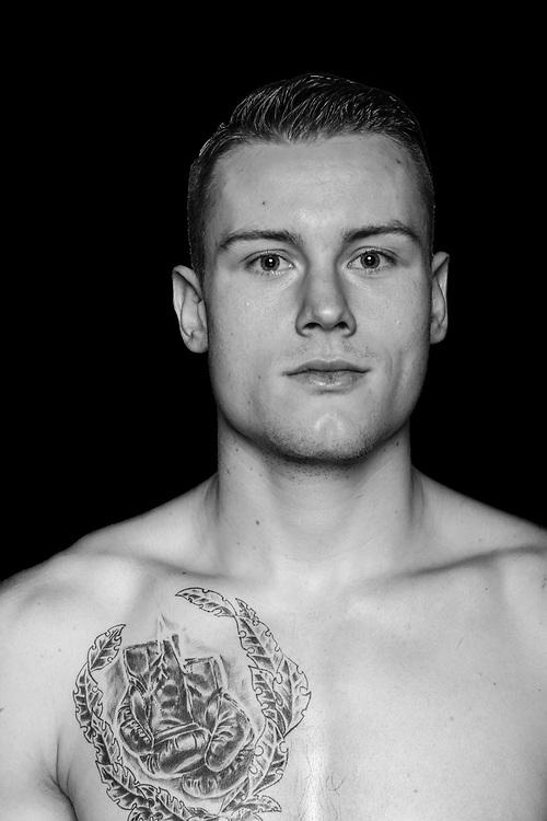 BOXEN: Studio, Portrait of a Boxer, Lübeck, 08.12.2017<br /> Halbchwergewicht 81 KG: Martin Houben (Nordrhein Westfalen)<br /> © Torsten Helmke