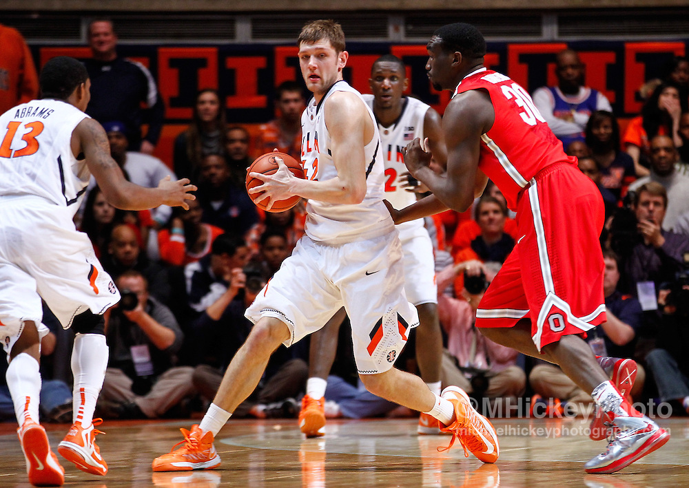 CHAMPAIGN, IL - JANUARY 05: Tyler Griffey #42 of the Illinois Fighting Illini is seen during the game against the Ohio State Buckeyes at Assembly Hall on January 5, 2013 in Champaign, Illinois. Ilinois defeated Ohio State 74-55. (Photo by Michael Hickey/Getty Images) *** Local Caption *** Tyler Griffey
