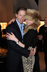 CHRISTOPHER GETTY and EVA FAHLER at a party to celebrate the publication of Nathalie von Bismarck's book 'Invisible' held at Asprey, 167 New Bond Street, London on 9th December 2010.