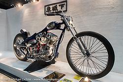 Custom 1965 Harley-Davidson Panhead at the Mooneyes Yokohama Hot Rod & Custom Show. Yokohama, Japan. December 6, 2015.  Photography ©2015 Michael Lichter.