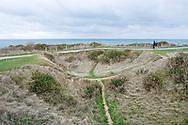 Bomb crater at Point du Hoc, the strategic headland between Omaha Beach and Utah Beach, Normandy, France © Rudolf Abraham