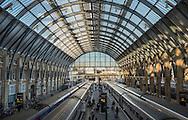 Early morning sunlight at Kings Cross Train Station, London
