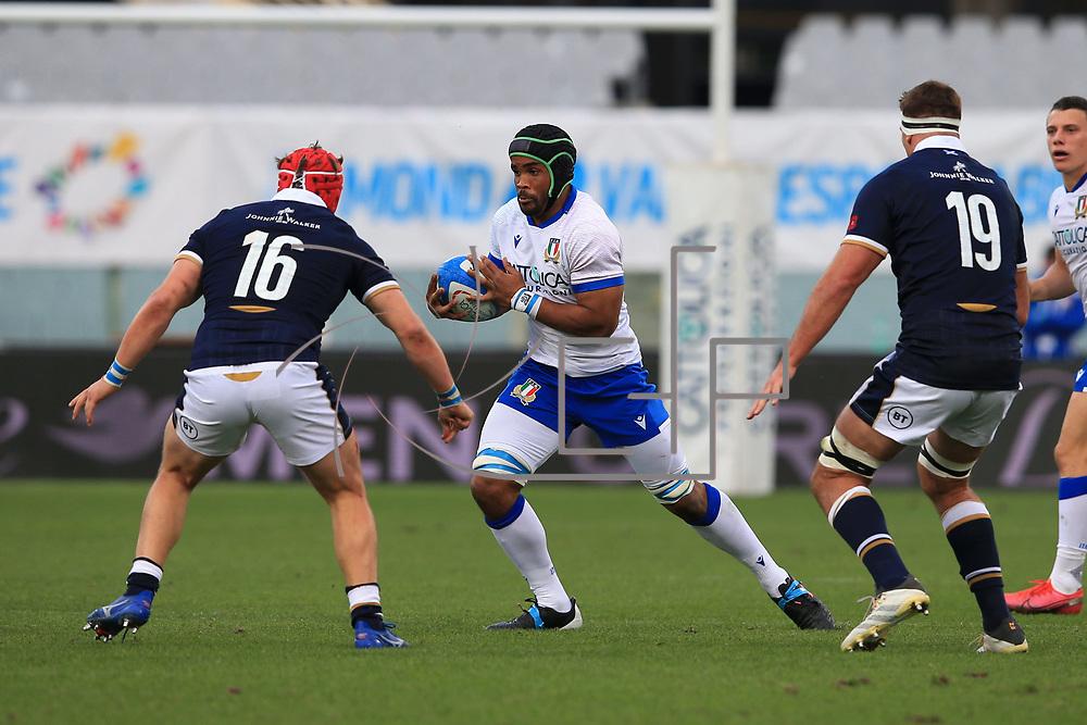 Firenze 14/11/2020, Stadio Artemio Franchi <br /> Autumn Nations Cup 2020<br /> Italia vs Scozia<br /> <br /> Maxime Mbanda'