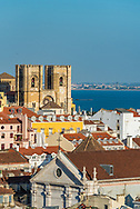 The city of Lisbon with the Tagus River in the background.