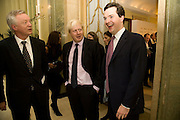 DAVID DAVIS; BORIS JOHNSON; GEORGE OSBORNE; OTHER WINNERS, Spectator Parliamentarian Of The Year Awards<br />Claridge's Hotel, Brook Street. London. 13 November 2008 *** Local Caption *** -DO NOT ARCHIVE-© Copyright Photograph by Dafydd Jones. 248 Clapham Rd. London SW9 0PZ. Tel 0207 820 0771. www.dafjones.com.