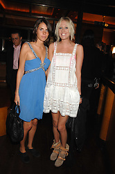 Left to right, MARINA HANBURY and the HON.SOPHIA HESKETH at a party to celebrate the launch of Cavalli Selection - the first ever wine from Casa Cavalli, held at 17 Berkeley Street, London W1 on 29th May 2008.<br /><br />NON EXCLUSIVE - WORLD RIGHTS