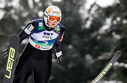 Manja Pograjc of Slovenia during Normal Hill Individual Competition at FIS World Cup Ski jumping Ladies Ljubno 2012, on February 11, 2012 in Ljubno ob Savinji, Slovenia. (Photo By Vid Ponikvar / Sportida.com)