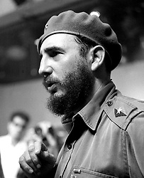 BEIJING, Feb. 19, 2008 (Xinhua) -- This is an undated file photo of Cuban leader Fidel Castro. Fidel Castro resigned as president in a statement published in the online version of the official daily Granma on Feb 19, 2008. .(Xinhua/File) (ww/why) (Credit Image: © Str/Xinhua via ZUMA Wire)